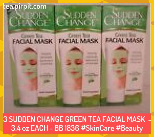 Photo of 3 SUDDEN CHANGE GREEN TEA FACIAL MASK   3.4 oz EACH  BB 1836 #SkinCare #Beauty G…