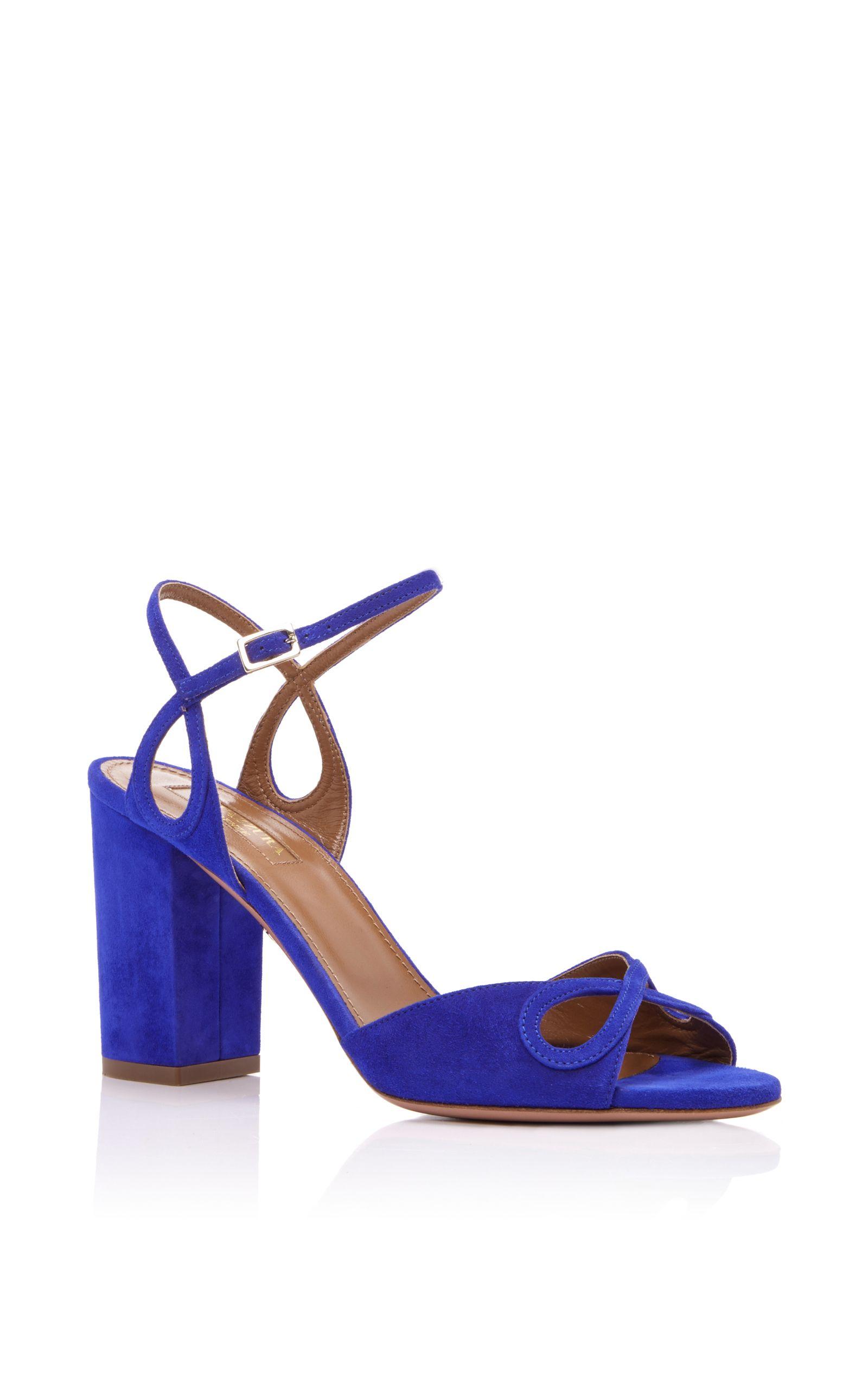 98a6fd4fa38192 AQUAZZURA Suede Vera Sandals.  aquazzura  shoes  sandals