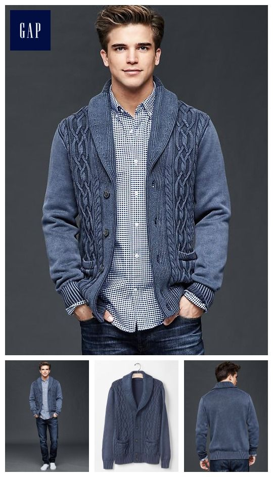 Gap Cable Knit Shawl Cardigan ($89.95) | wear it | Pinterest ...