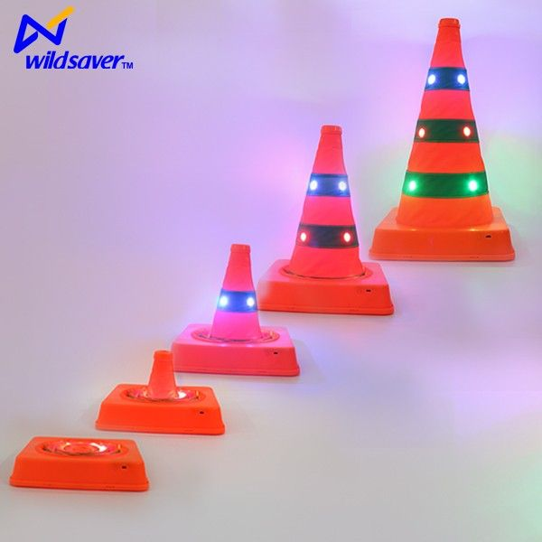 Rechargeable Led Light Protable Traffic Cone Road Safety Cones Led Lights Novelty Lamp Led