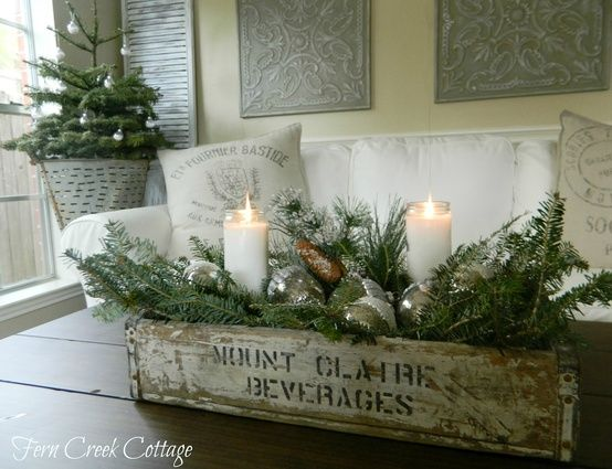Pin de Fernanda Turcott en Our first Christmas Pinterest Centros - decoracion navidea estilo vintage