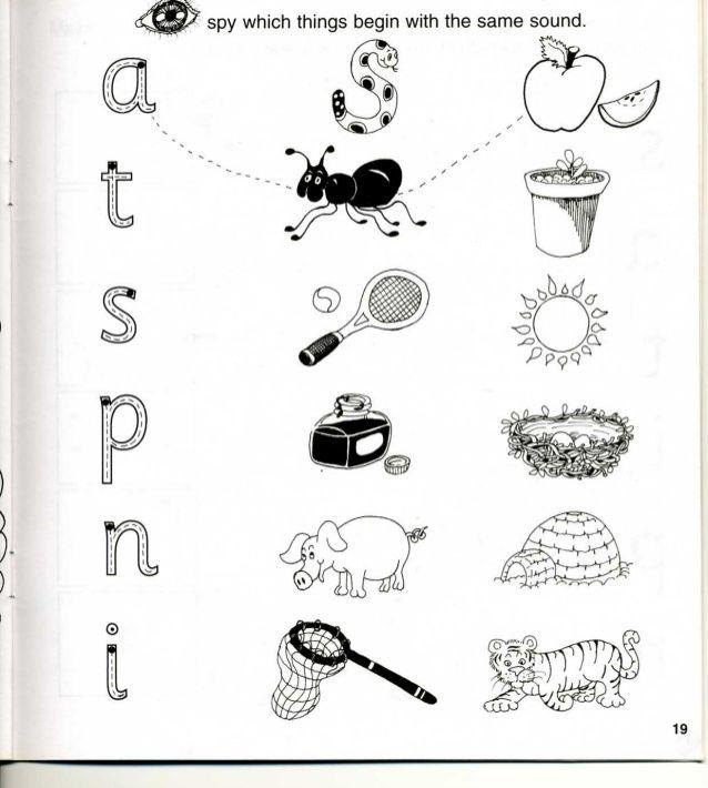 Jolly Phonics Workbook 1 phonics activities Pinterest - phonics worksheet