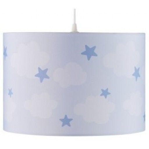 kids concept hanglamp abbey wolk en ster blauw kidsconcept hanglamp wolk