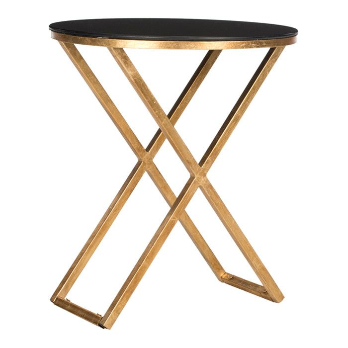 Superieur Gold U0026 Black Accent Table