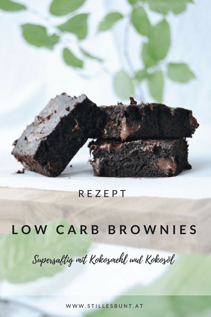 Rezept // Supersaftige Low Carb Kokosmehl Brownies