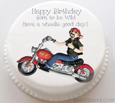 Motorbike Birthday Cake With Images Personalised Cakes Themed