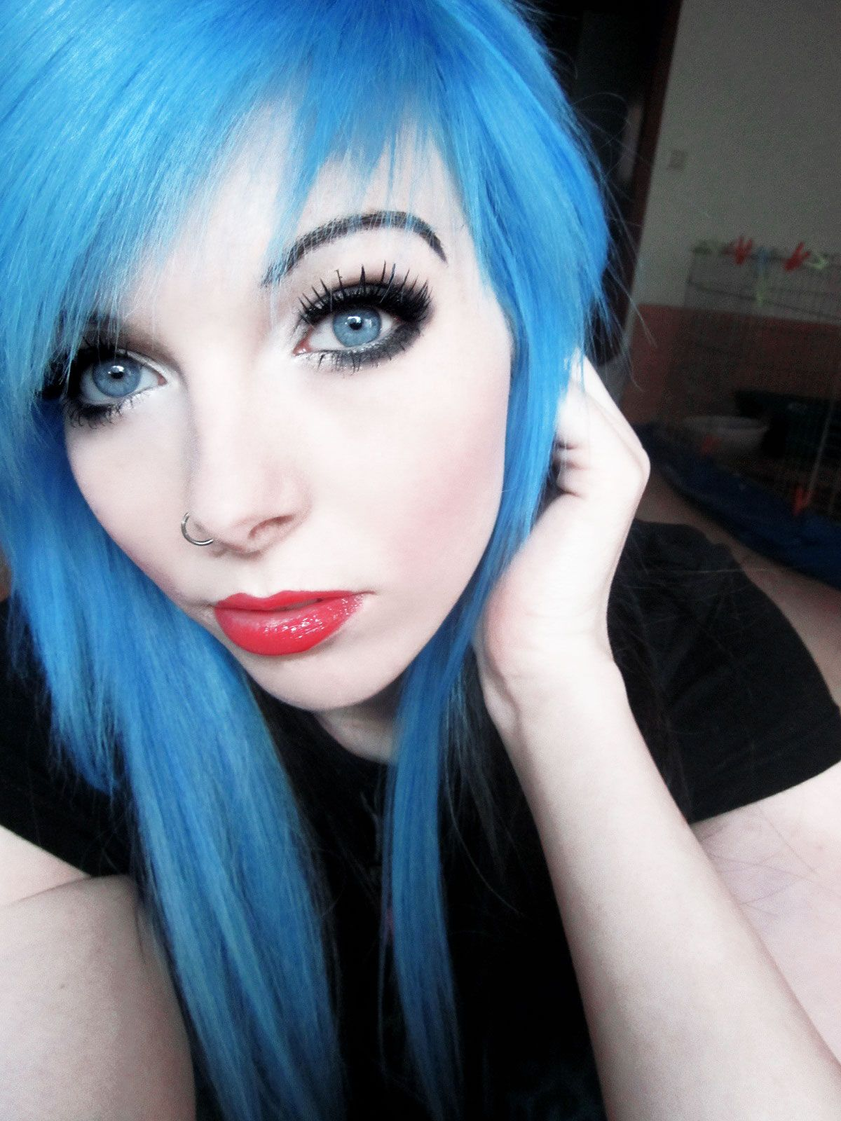 how to dye blue hair | emo girls | pinterest | emo scene, dye hair