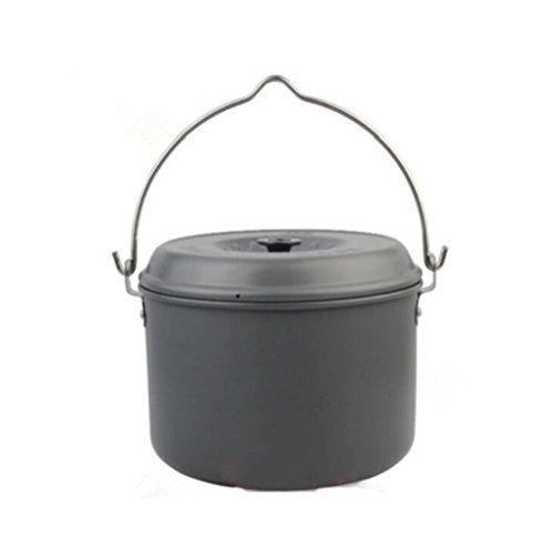 Outdoor Cooking Pot Portable Camping Picnic Hiking Cookware Soup Bowl Pan With Storage Bag Read More At The Image Link