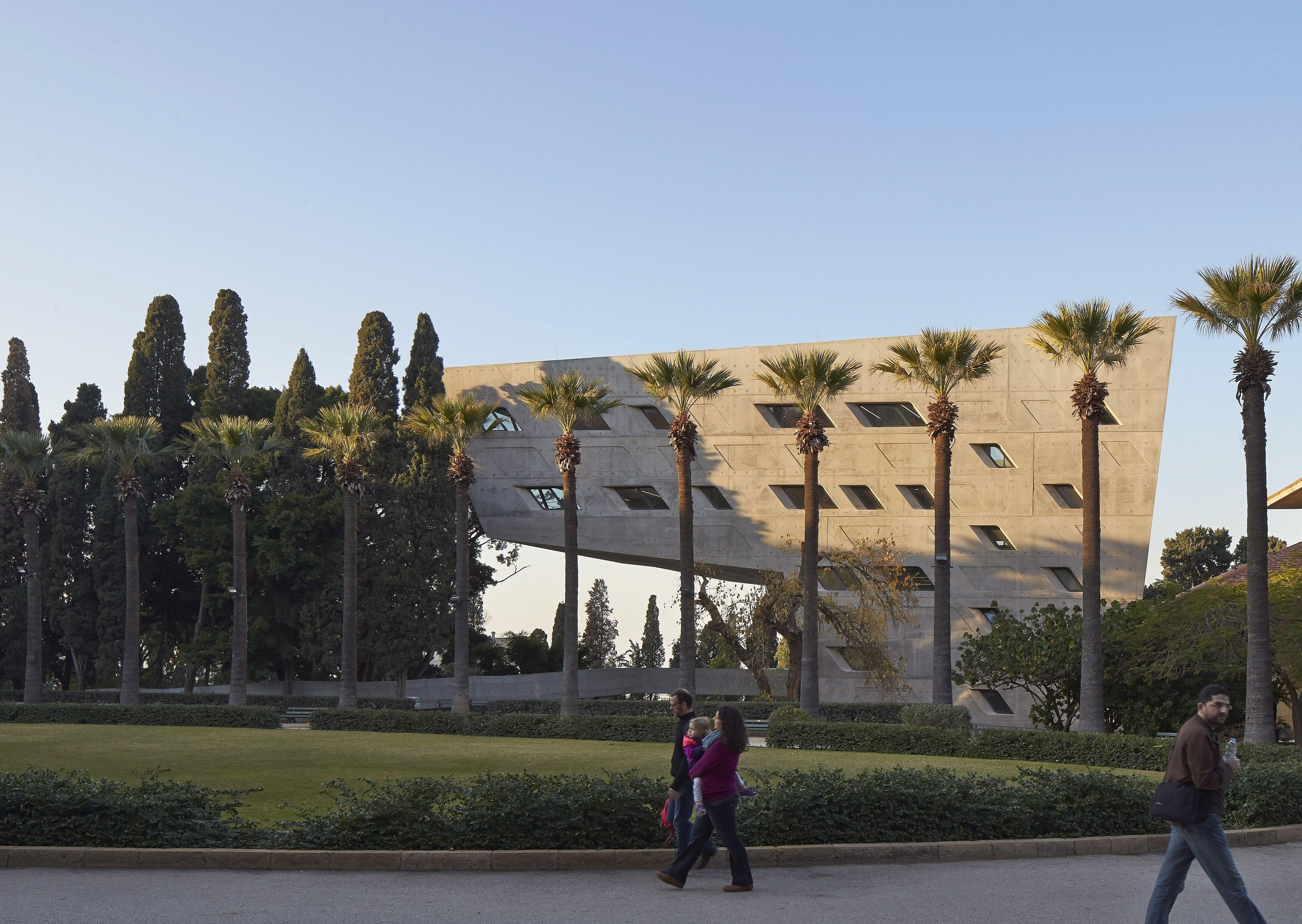 Edificio de Políticas Públicas y Asuntos Internacionales del Instituto Issam Fares (IFI), en la Universidad Americana de Beirut