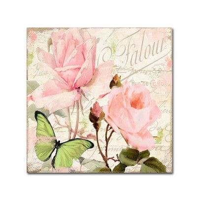 """Trademark Art 'Florabella III' by Color Bakery Graphic Art on Wrapped Canvas Size: 35"""" H x 35"""" W x 2"""" D"""