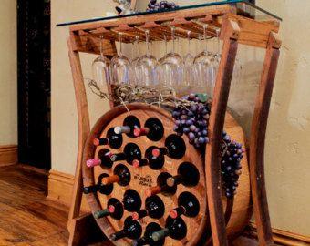 Estante de vino de mesa por fallenoakdesigns en etsy - Estantes para vinos ...
