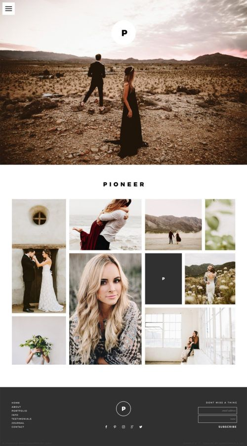 Showit Premium Free Photography Website Templates Dark - Free photography website templates