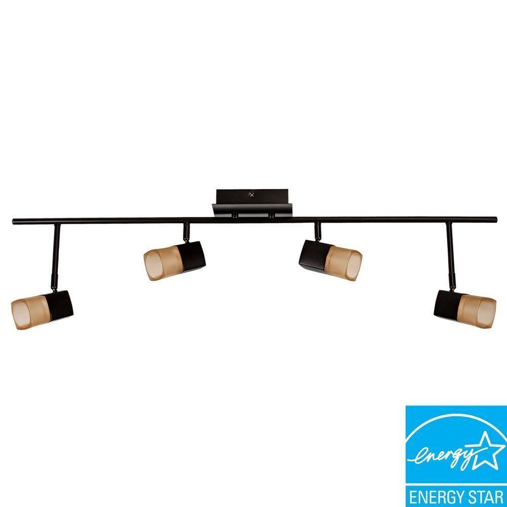 hampton bay vega 36 ft 4light oilrubbed bronze led track lighting - Hampton Bay Track Lighting