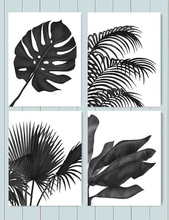 Tropical Prints Tropical Leaves 1 Black On White Beach House Decor Black White Room Decor Tropical Artwork Jungle Print Botanical Painting Tropical Art Tropical Leaves Tropical Wall Art Buy fabric, wallpaper and home decor and view projects featuring unique tropical designs. tropical prints tropical leaves 1 black