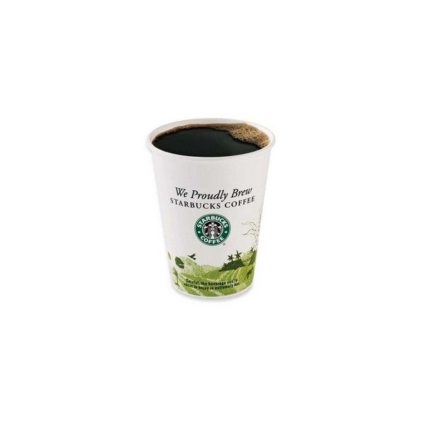 Starbucks Hot Cup - 12oz - 1000 / Carton - Paper - White ($85) ❤ liked on Polyvore