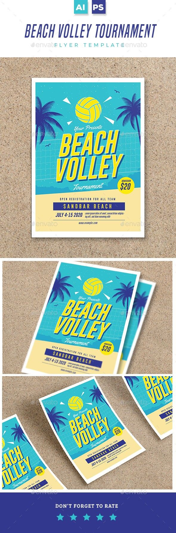 Beach Volleyball Flyer | Pinterest