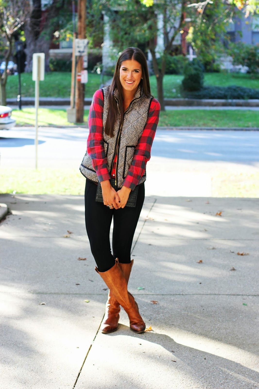 Flannel with jeans and boots  Glow in the Dark  Herringbone Buffalo plaid and Buffalo