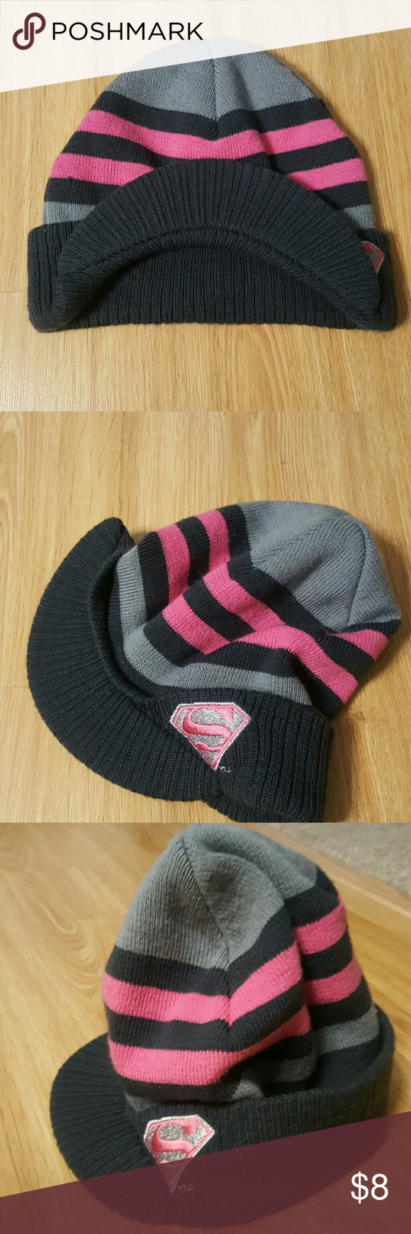 76b255a3cf5 Kids Pink Superman Winter Hat NWT