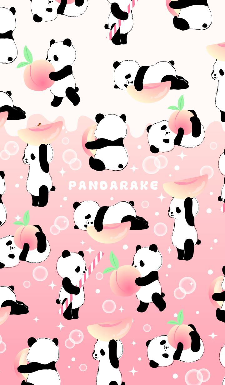 The Peach Soda Taste Version Of Pandarake Please Have The Person Who Would Like To Taste Peach Soda Feelin Cute Panda Wallpaper Panda Wallpapers Panda Drawing