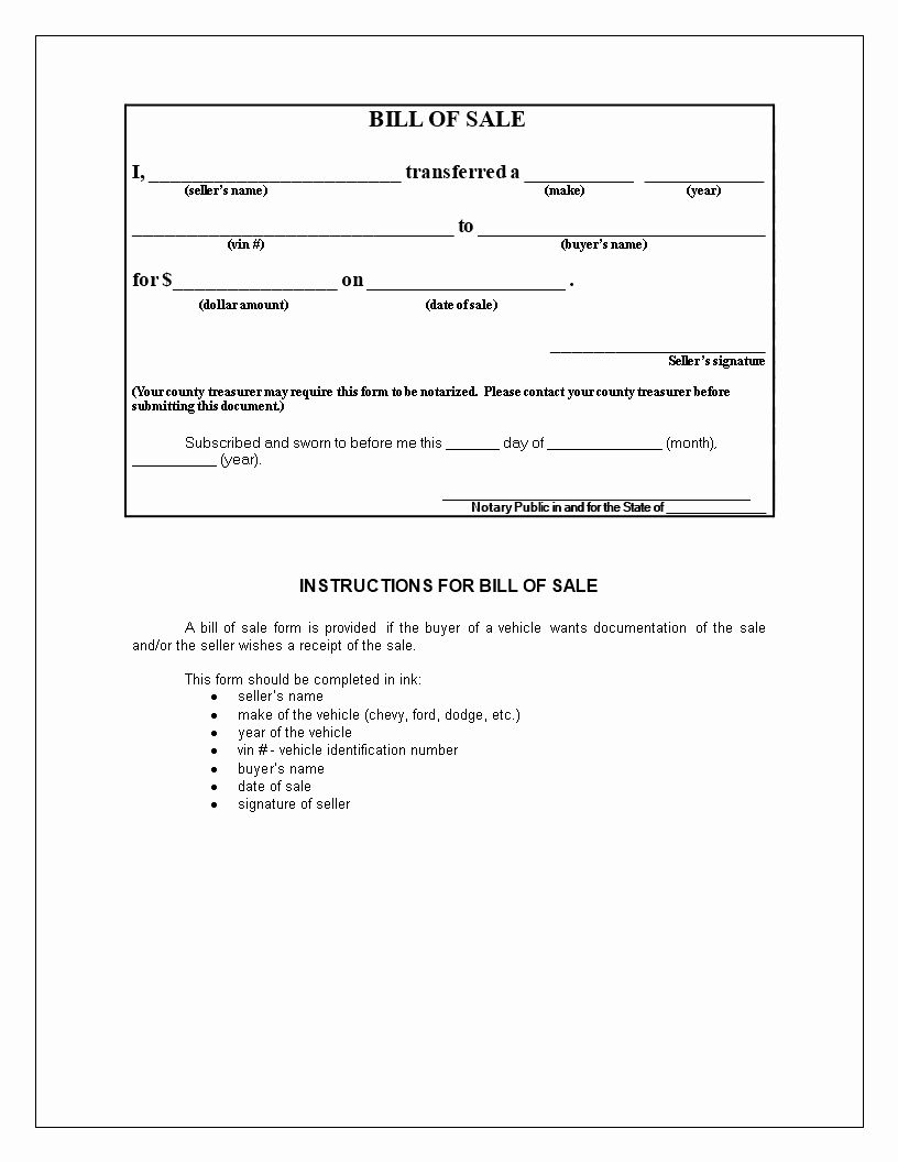 010 Car For Sale Template Free Vehicle Bill Of Printable Nc With Vehicle Bill Of Sale Template Word Word Template Bill Of Sale Template Transfer Letter Format