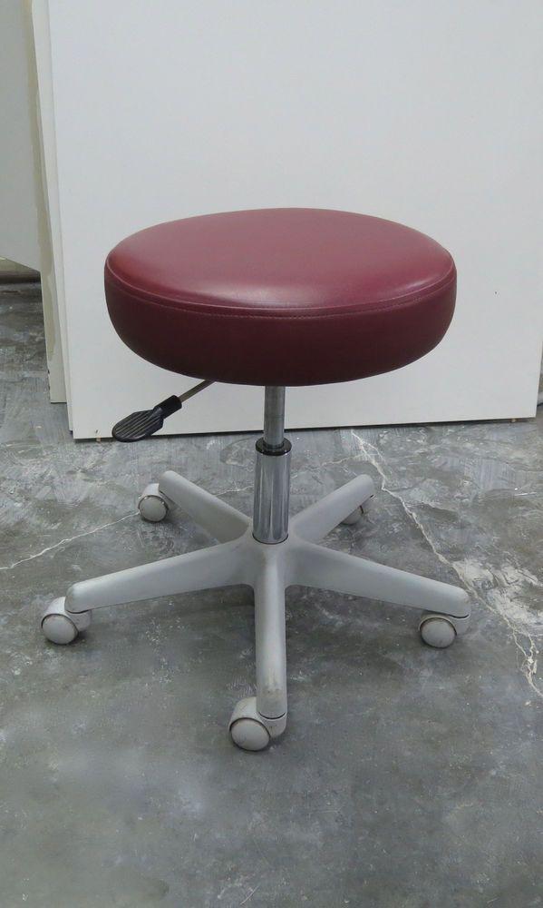 Fantastic Red Dental Operators Doctor Stool Dr Chair Round Frankydiablos Diy Chair Ideas Frankydiabloscom