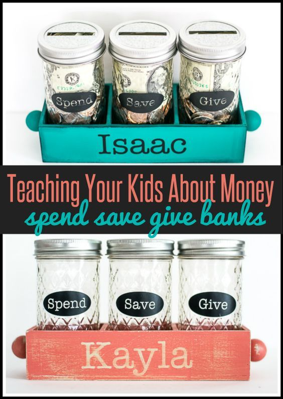"PARENTING | Teaching kids about money with DIY ""Spend,"" ""Save,"" and ""Give"" jars"