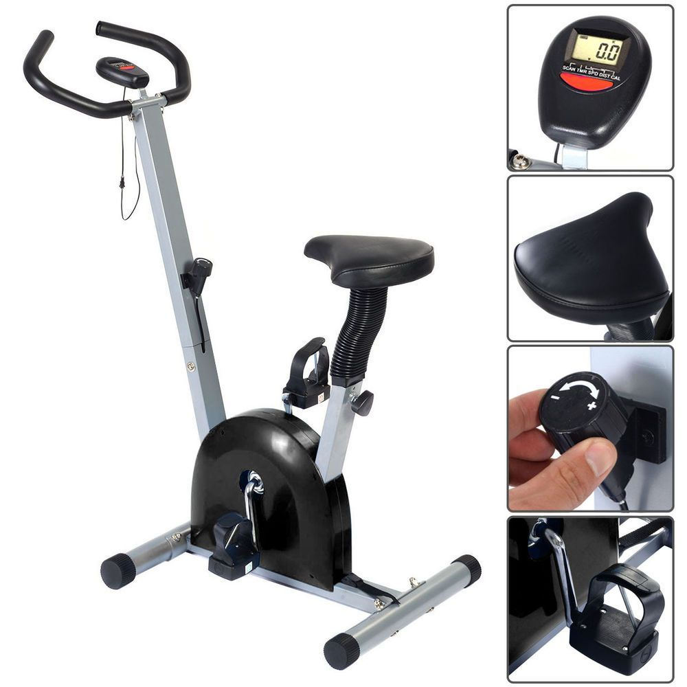 Adjustable Exercise Bike Cardio Fitness Gym Cycling Workout Training Stationary