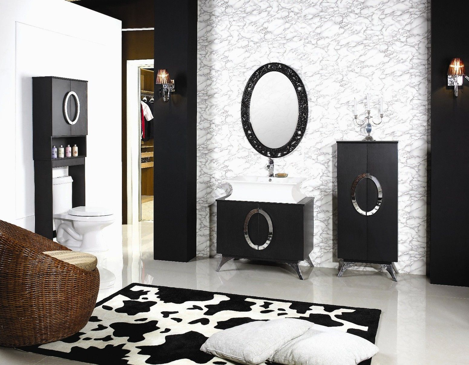 bathroom modern small white bathroom sink in black and white themed ...