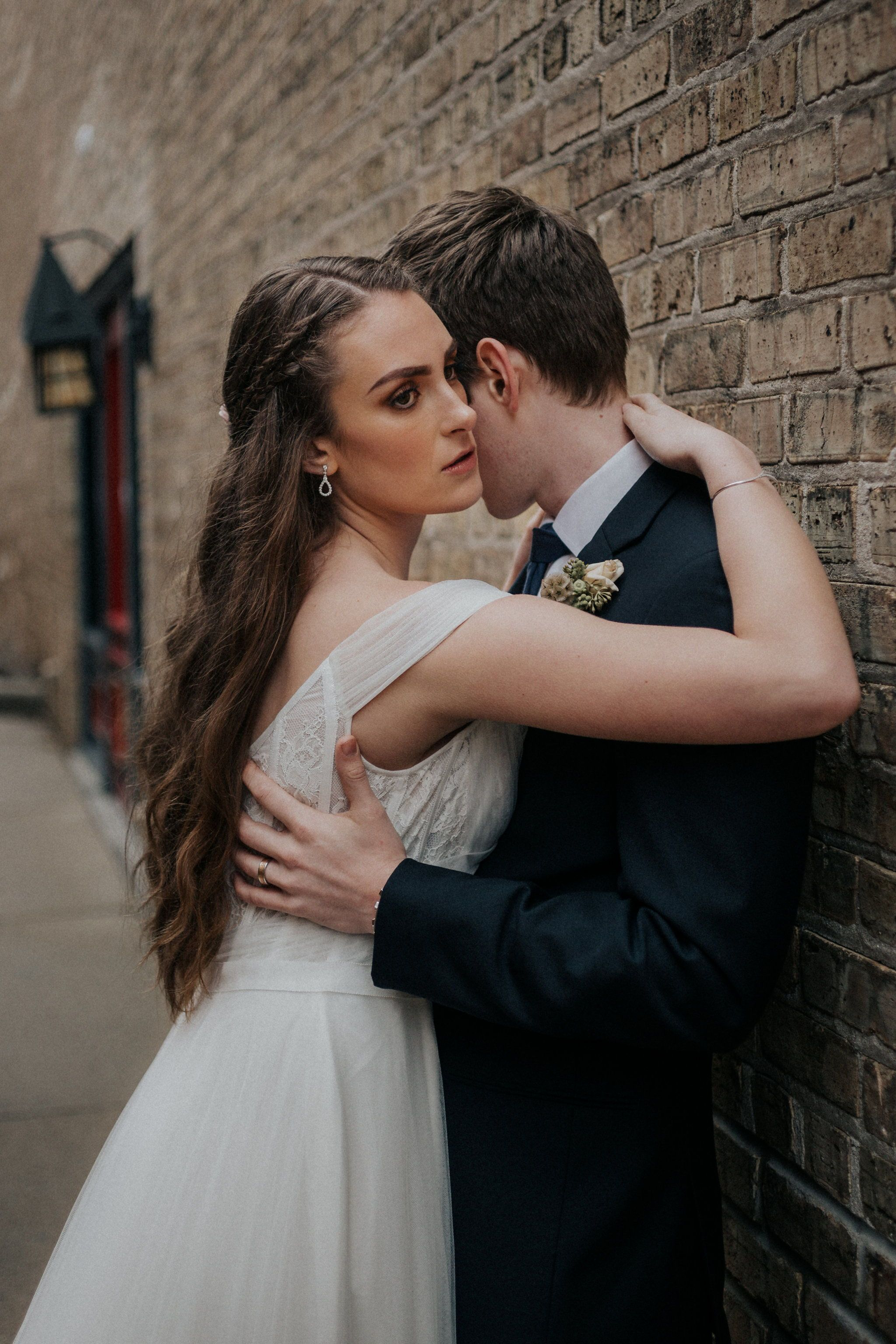 Romantic Curly Half Up Half Down Wedding Hair And Beautiful Warm