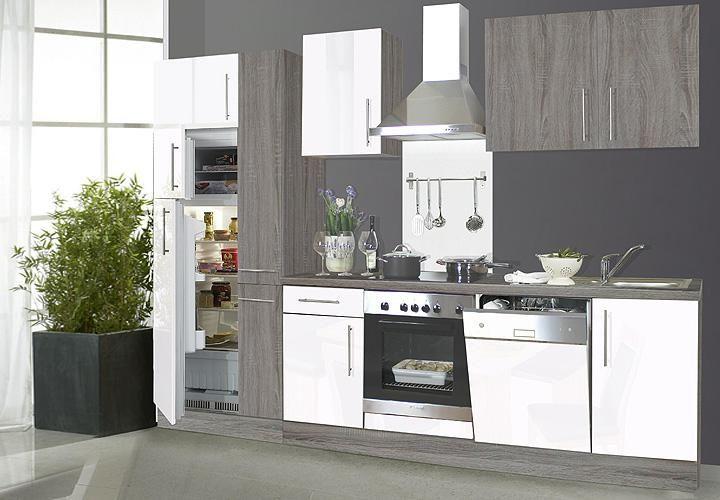 Küchenzeile Weiß Hochglanz Mit E Geräten