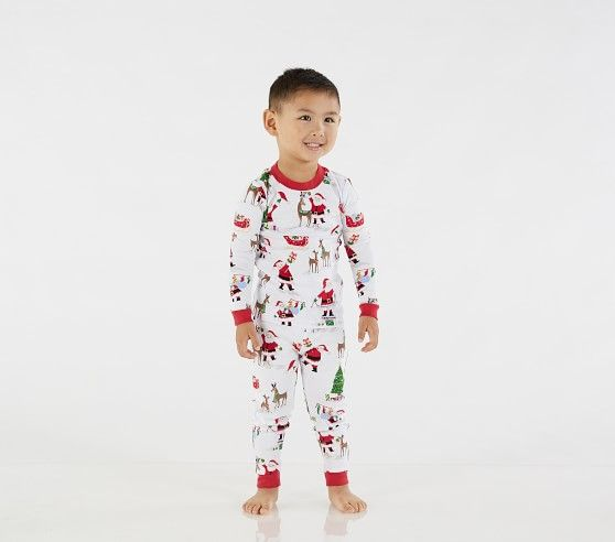 Jolly Santa Tight Fit Pajama Satin Pyjama Set Cute