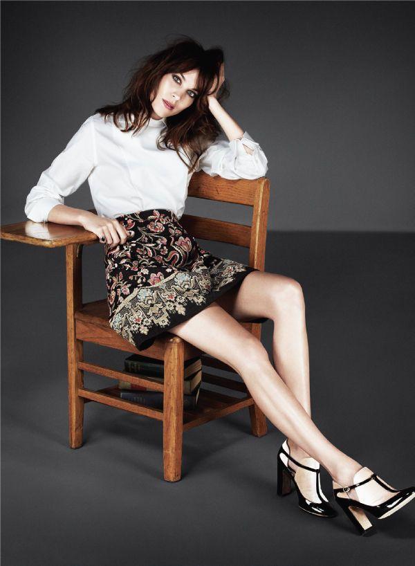 Alexa Chung Goes Back to School for Flare November 2013 #backtoschool #fashion trendhunter.com
