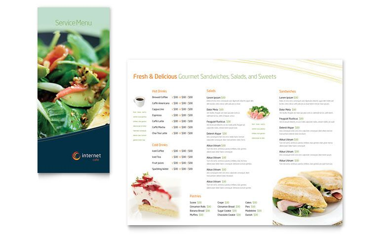 French Menu Template Microsoft  Restaurant Menu Templates Free