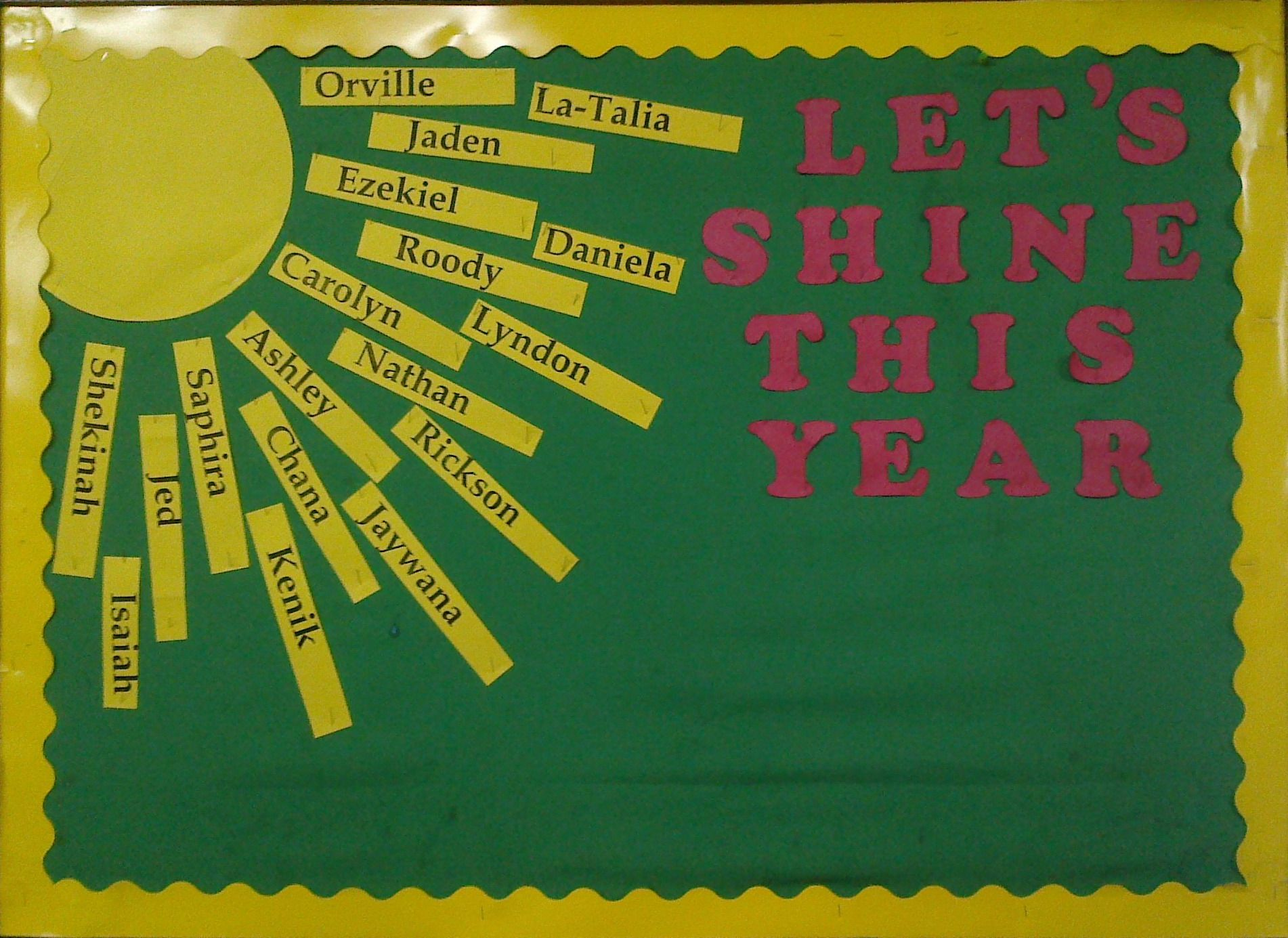 Let S Shine This Year Bulletin Board