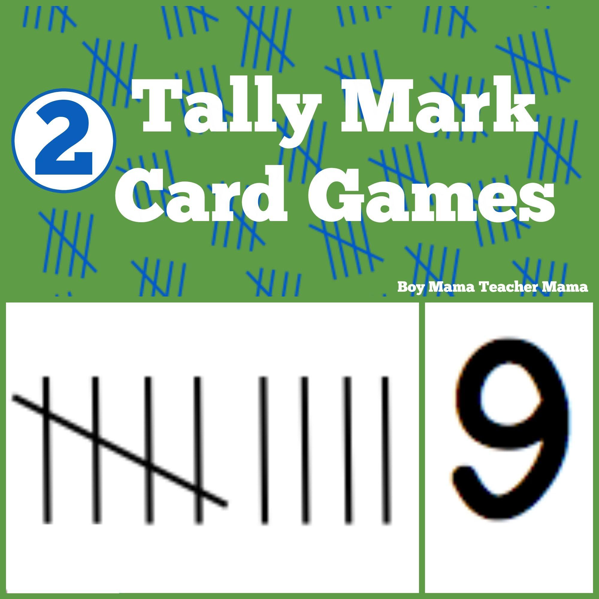 Teacher Mama 2 Tally Mark Card Games