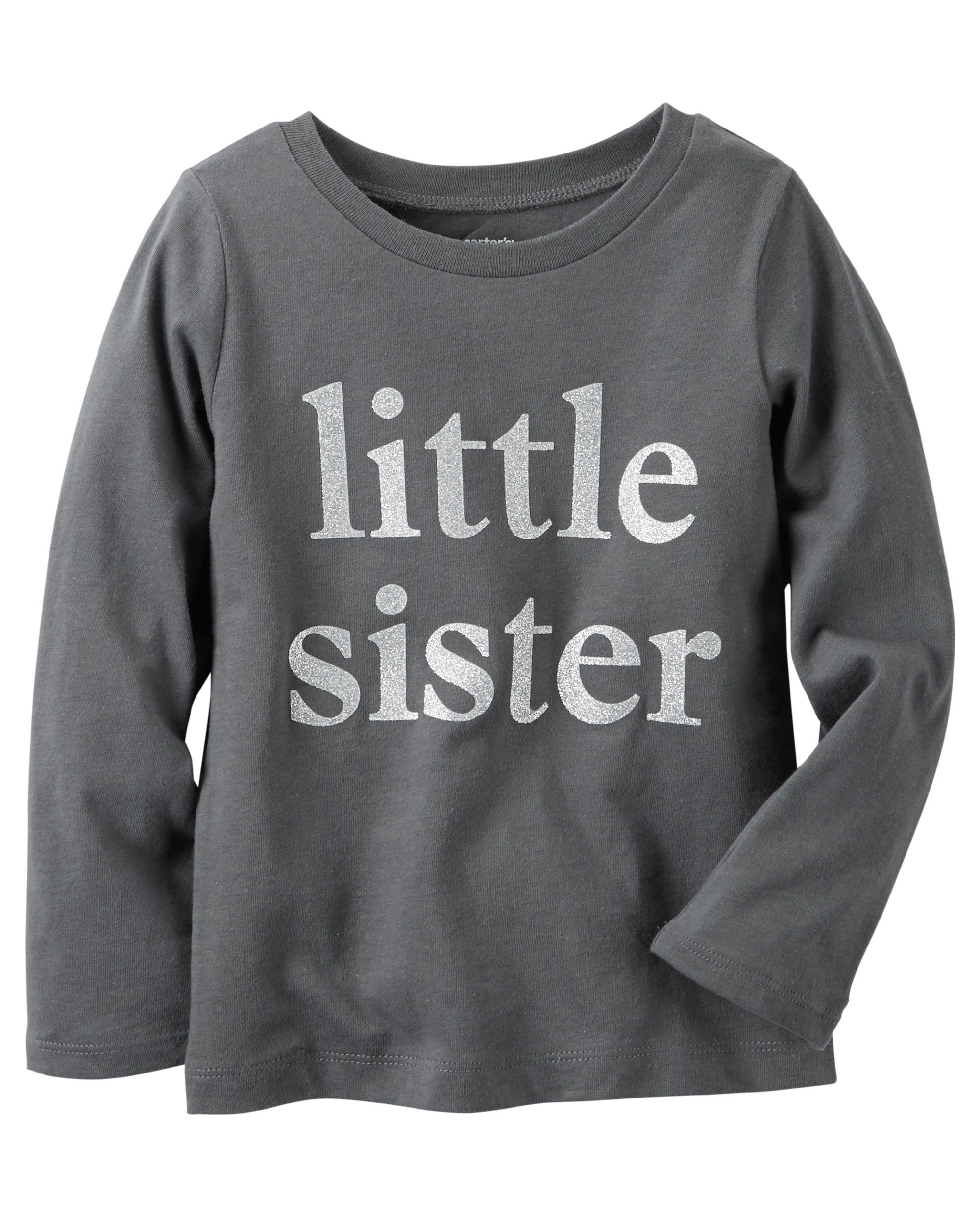 eca7033a2 Toddler Girl Long-Sleeve Little Sister Graphic Tee | Carters.com ...