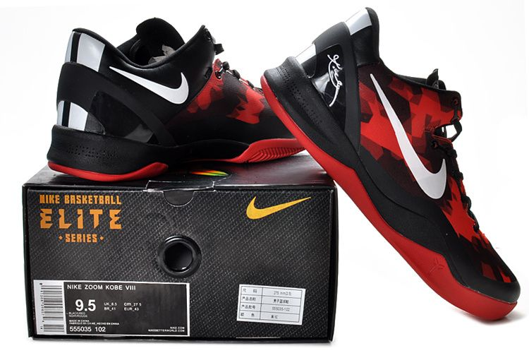 check out f2d85 5f71c Kobe shoes 2013 Kobe VIII Elite Red Black White 555035 102