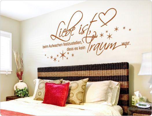 Schlafzimmer Wandtattoo ~ Schlafzimmer wandtattoo bettgeflüster wandsticker liebe