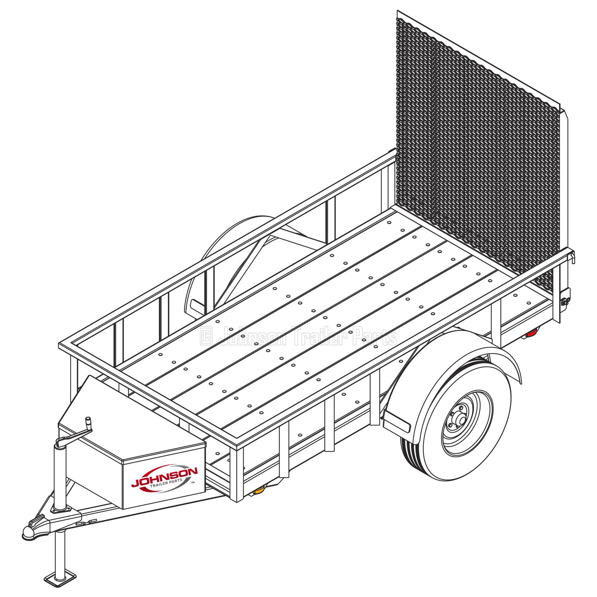4 x 8 utility trailer plans blueprints 3500 lb