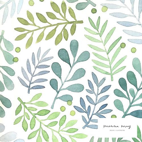 Watercolor Leaves Pattern Watercolor Pattern Plant Illustration