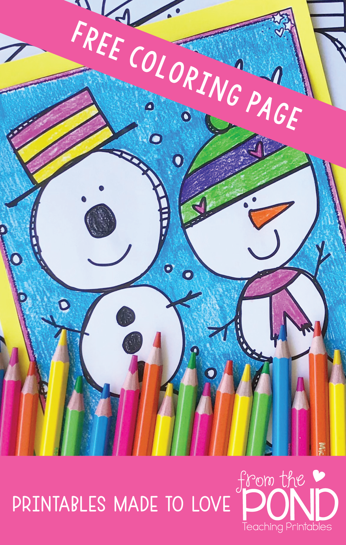 snowman coloring page snowman activities and free teaching