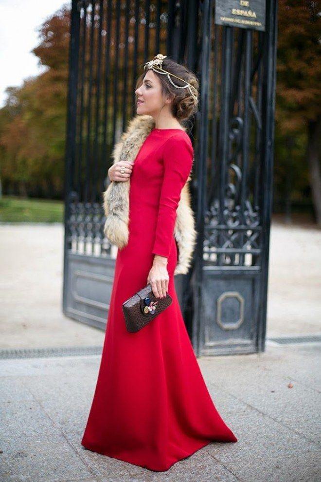 Vestidos largos para bodas de invierno