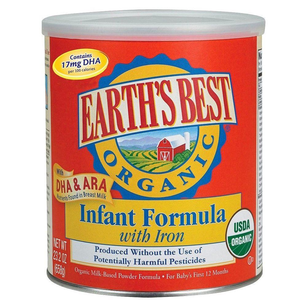 Earths best organic infant formula with iron powder 23