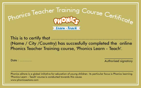 Phonics Teacher Training Course Online Certificate Course | Learn ...