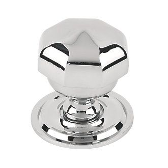 Octagonal Centre Door Knob Polished Chrome | Centre Door Knobs ...