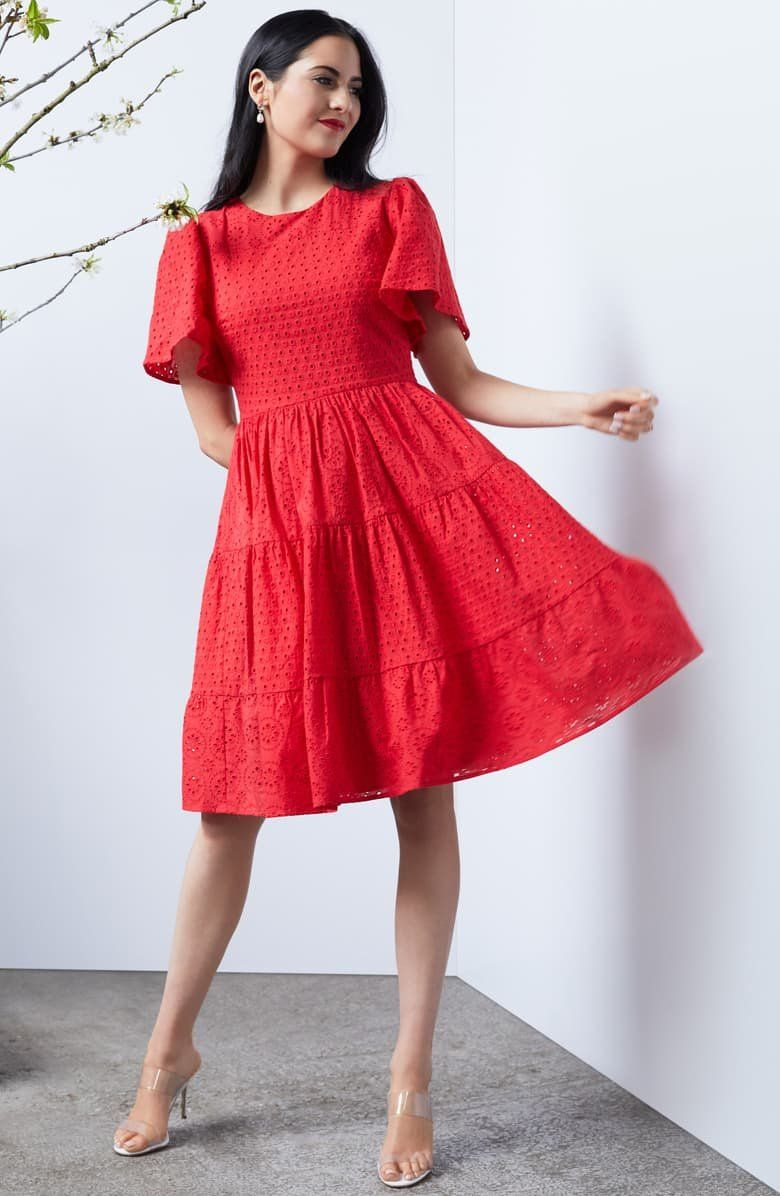 Rachel Parcell Mixed Eyelet A Line Dress Nordstrom Exclusive Nordstrom Nordstrom Dresses A Line Dress Influencers Fashion [ 1196 x 780 Pixel ]
