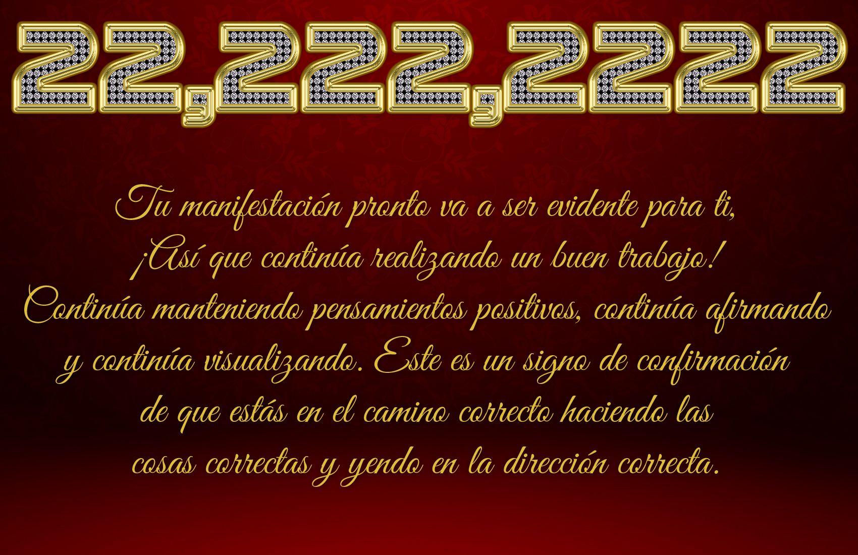 Significado 22 222 2222 Numerología Códigos Sagrados Pensamientos Positivos