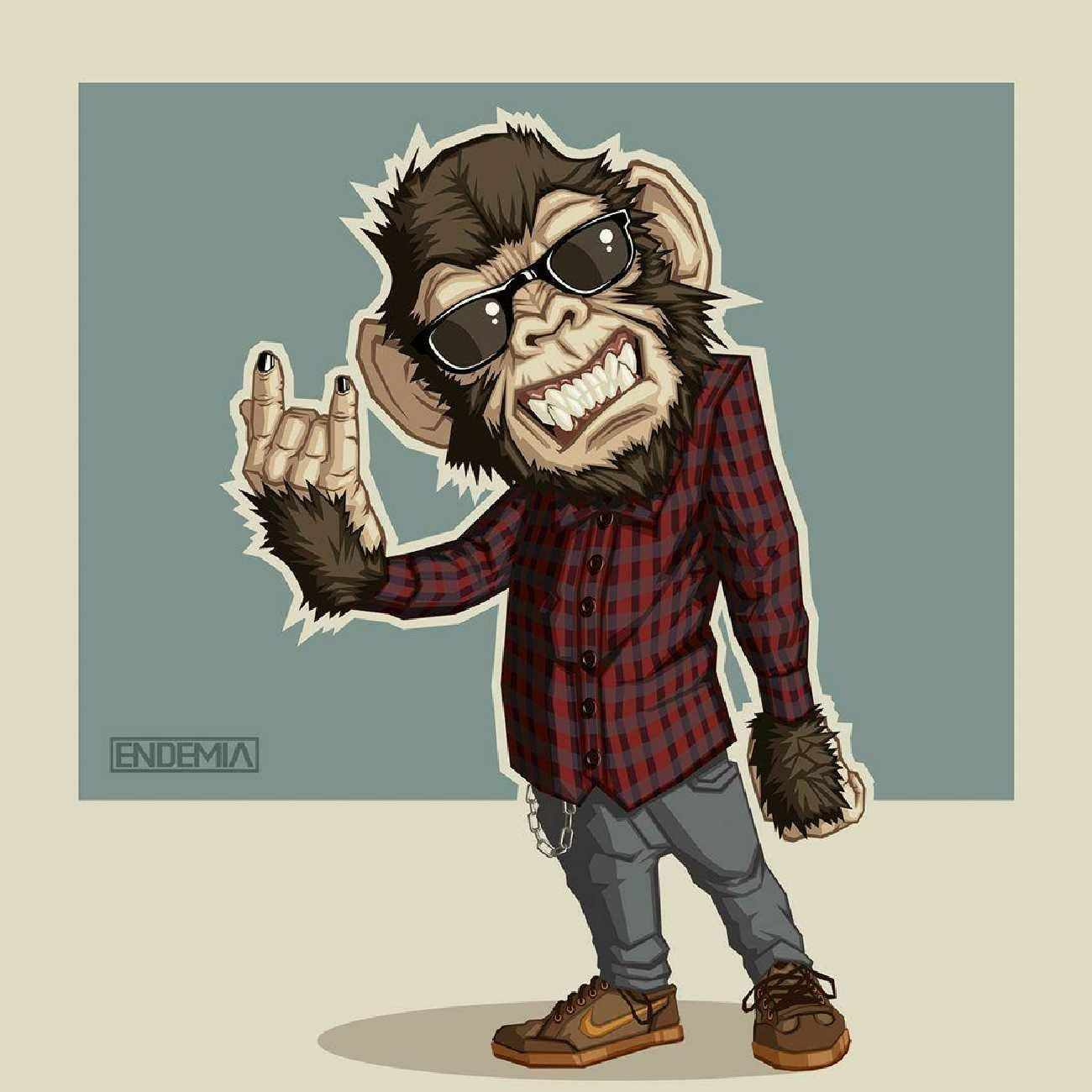 Pin by Paolo Cruz on Logos (With images) Monkey art