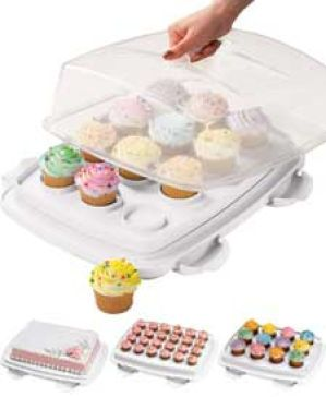 Ultimate 3 In 1 Cake Caddy From Michaels Cupcake Carrier Cupcake Cakes Cake Carrier