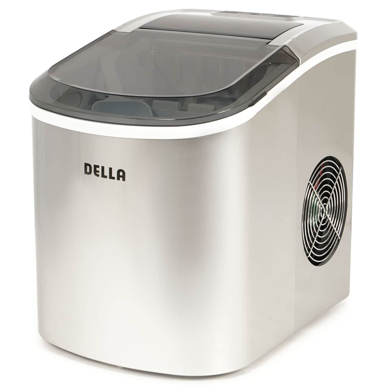 Della Portable Ice Maker Easy Touch 2 Selectable Cube Sizes